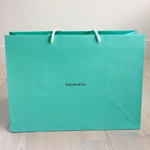 TIFFANY & CO medium shopping bag